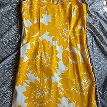Sara Campbell Modcloth Spring Yellow Floral Keyhole Dress Size 8 M  Photo