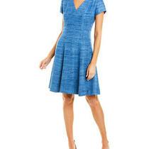 Sara Campbell Silk a-Line Dress Women's Blue 2 Photo