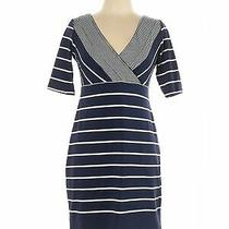 Sara Campbell Women Blue Casual Dress L Photo