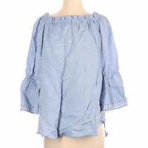 Sara Campbell Women Blue Long Sleeve Blouse S Photo