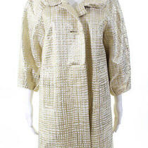 Sara Campbell  Womens Lined Jacket Gold Cream Cotton Size 8 Photo