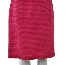 Sara Campbell Womens Skirt Size 4 Pink Textured Pencil Silk Knee Length Career Photo