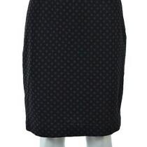 Sara Campbell Womens Skirt Size S Navy Blue Brown Polka Dot Straight Knee Length Photo