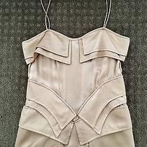 Sass and Bide Very Rare Nude Blush Silk Structured Corset Top Sz 40 Photo