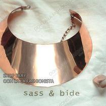 Sass & Bide  Rare Rose Gold Designer Necklace  Collar and Ring  Dust Bag Photo