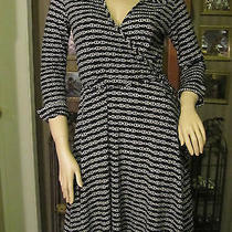 Sassy Black & White Dress by Blush in Size L Photo