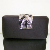 Satin Crystal Evening Bag Handbag Purse With Swarovski Crystals Black Color Photo
