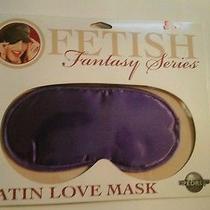 Satin Eye Mask Fantasy Bedroom Roleplay Purple Burlesque  Dominatrix Sleepwear  Photo