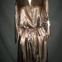 Satin Nighty Robe Peignoir Satin Shiny Shine Peignoir Lounge Lingerie Xl 48