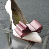 Satin Ribbon Bow Shoe Clips Set of Two Wedding Party Bridal Shoes Photo