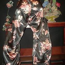 Satin Soft Sleek Nighty Lounge Pants Soft Shine Leaf Pj Pants Lingerie L 42