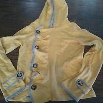 Saturday Sunday Anthropologie Off Kilter Jacket Xs Hoodie Yellow Bird Button Photo