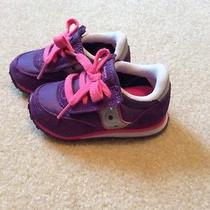 Saucony Baby Jazz a&c Toddler Girls Size 5 Purple Sneakers Shoes Photo