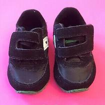 Saucony Baby Jazz Crib Sneakers Boys Size 2 Black Green (Box 4) Photo