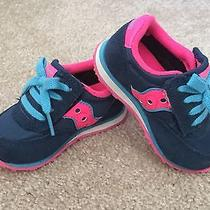 Saucony Baby Jazz Low Pro Sz 5m Blue Pink Shoes Photo