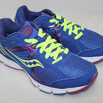 Saucony Catalyst Blue Purple Neon Yellow Running Size 7- New Without Box  Photo