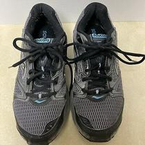 Saucony Cohesion 5 Athletic Shoes Silver Black and Turquoise Womens Size 8 Photo