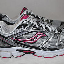 Saucony Cohesion 5 Silver Pink Running Walking Fitness Shoe Womens Size 9- Nice  Photo