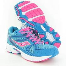 Saucony Cohesion 6 Blue Sneakers Girls Size 5.5 M Used 60 Photo