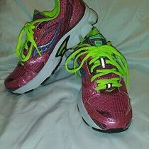 Saucony Cohesion 6 Running Shoes Hot Pink Lime Light Blue Sz 6 Photo