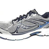 Saucony Cohesion 7 Mens Athletic Running Silver/navy/royal Shoes 13 M Us Photo