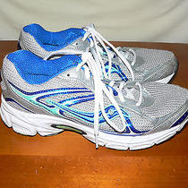 Saucony Cohesion 7 Running Walking Mesh Shoes 15181-5 Silver/aqua/blue Size 9.5 Photo