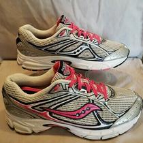 Saucony Cohesion 7 Womens Size 11 Running Shoes Pink/gray Cleaned and Sanitized  Photo