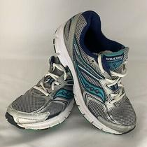 Saucony Cohesion 9 Women Running Shoe Size 8.5 Green Aqua Blue Grey S15262-1 Photo