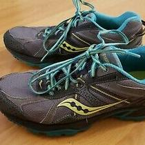 Saucony Excursion Tr 7 Athletic Running Shoes Women's Size 10 15170-2 Teal Grey Photo
