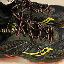 Saucony Excursion Tr8 Trail Running Shoe Athletic Size 9.5 Black Yellow Pink  Photo