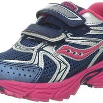 Saucony Girls Cohesion 6 Sc Running Shoe (Little Kid) Navy/pink/silver 2 M Us Li Photo