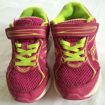 Saucony Girls Pink Green Cohesion 7 Athletic Shoes Youth Us Size 1.5 Photo