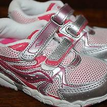 Saucony Girls Toddler Cohesion Hl Running Shoe 7m White/pink Photo