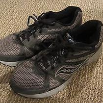 Saucony Grid Cohesion 6 - Size 9.5 Wide Mesh Running Shoes - Gray/blue/black Photo