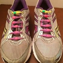 Saucony Grid Cohesion 7 Women's Running Shoes Sz 9.5 White Purple Gray Sneaker Photo