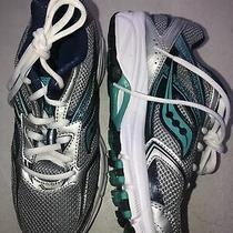 Saucony Grid Cohesion Gray Silver Mint Running Shoes Womens Size 7 Wide X100 Photo