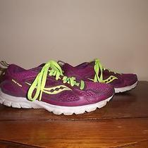 Saucony Grid Flya Womens 7.5m Us 5.5m Uk Purple/yellow Running/training Mesh Photo