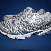 Saucony Grid Ignition Grey/blue Athletic Running Shoes Women's 7.5 Photo