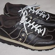 Saucony Gripper Brown Leather Athletic Shoes Men/boy Size 6.5  Photo