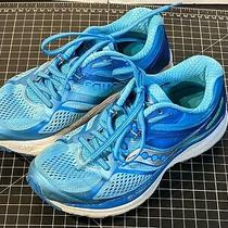 Saucony Guide 10 Everrun Women's Size 7 Wide Running Shoes S10350-1 Light Blue Photo
