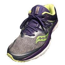 Saucony Guide Iso Everun Running Shoes S10415-1 Gray Purple Yellow Womens Sz 7.5 Photo