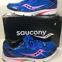 Saucony Hurricane Iso 2 Womens Sz 10 Blue / Pink Running Sneakers Shoes Ze-1160 Photo