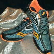 Saucony Men Running Cleats Shay Xc2 Blue Orange Nylon Shoes 10.5 U.s. Nwob Photo