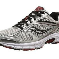 Saucony Men's Cohesion 8 Running Shoes Size 10.5 d(m) Grey  Black  Red Photo