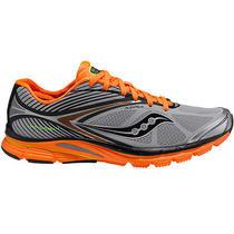 Saucony Men's Kinvara 4 Viziglo Running Shoes - Silver/orange - 11 Photo