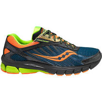 Saucony Men's Progrid Ride 6 Gtx Running/training Shoes - Blue/orange/lime - 9 Photo