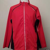 Saucony Men Size Xl Red Full Ziper Softshell Jacket  Photo