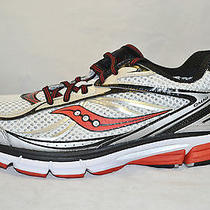 Saucony Mens Progrid Omni 12 Running Shoes Size 9.5 New White Black Red Photo