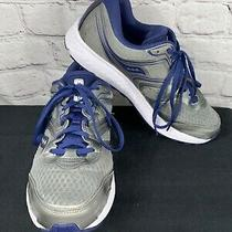 Saucony Mens Shoes 8.5 W Blue Gray Cohesion 12 Versafoam Running Shoes S20472-1 Photo