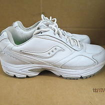 Saucony Mens Sz 9.5 Omni Walker Grid White Athletic Shoes Photo